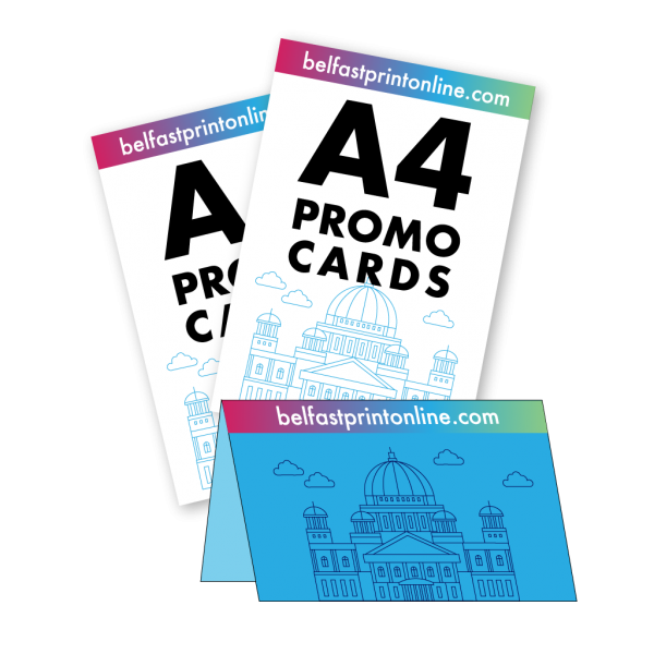 Belfast Print Online A4 Promo Cards Litho