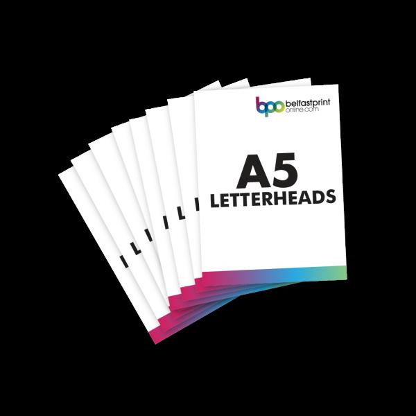 Belfast Print Online A5 Letterheads Litho