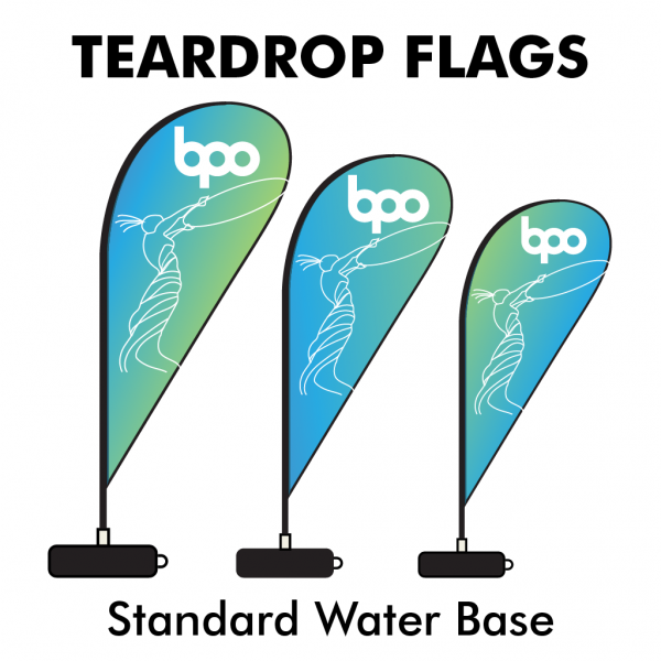 Belfast Print Online - Printed Teardrop Flags 115gsm Standard Water Base