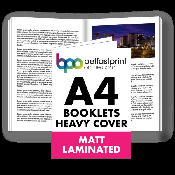 A4 Booklets Heavy Cover Matt Laminated