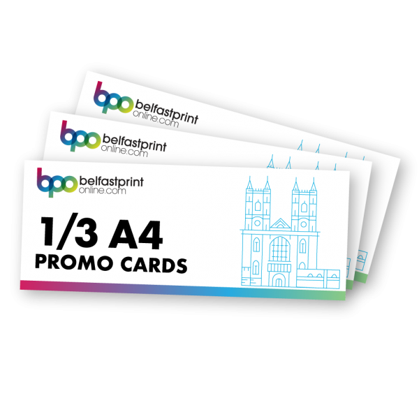 Belfast Print Online 1/3 A4 Promo Cards Litho
