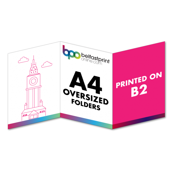 6pp A4 Oversized Folders Printed On B2