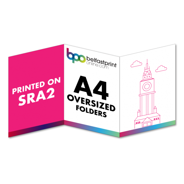 Belfast Print Online 6pp A4 Oversized Presentation Folders SRA2 Litho