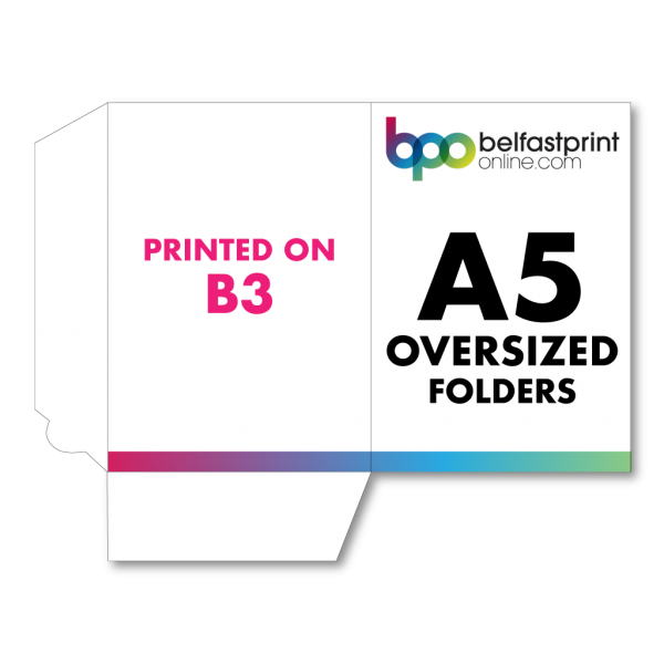 A5 Oversized Folders Printed On B3