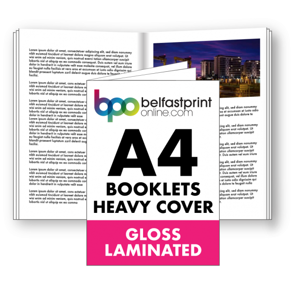 Belfast Print Online A4 Booklets Heavy Cover Gloss Laminated Litho