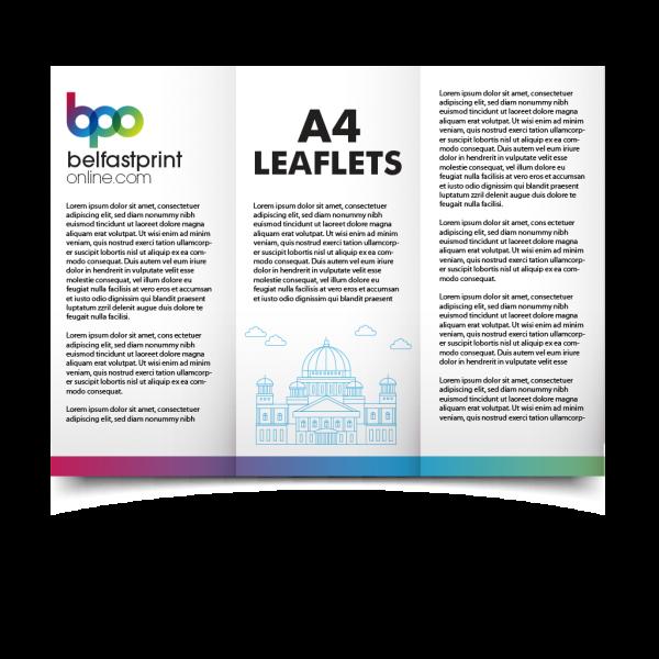 Belfast Print Online - A4 Folded Leaflets Litho - (Trifold)