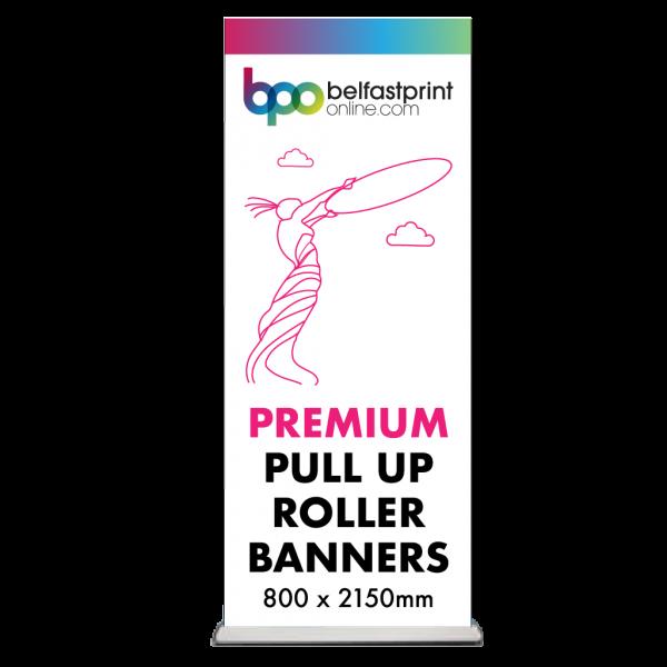 Pull Up Roller Banner - Premium - 800 x 2150mm - Printers Belfast - Belfast Print Online