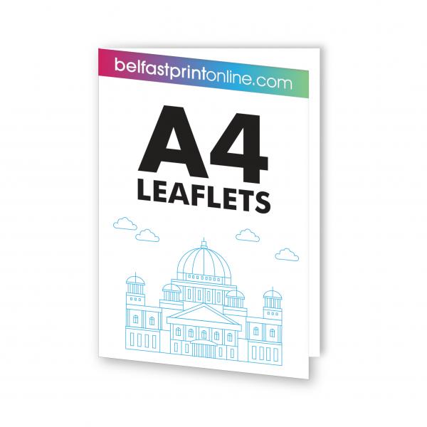 Belfast Print Online - A4 Folded Leaflets Litho (Half Fold)