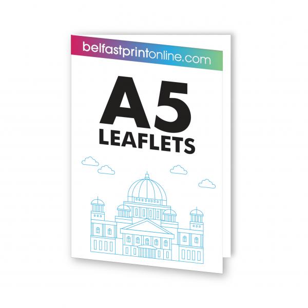 Belfast Print Online - A5 Folded Leaflets Litho (Half Fold)