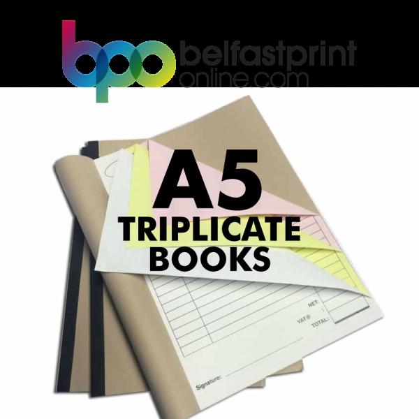 Belfast Print Online - A5 Triplicate Books