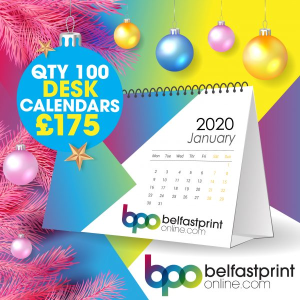 Belfast Print Online - Flip Desk Calendars Offer Qty x 100 - £175