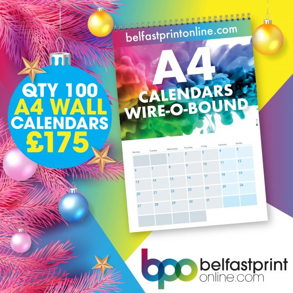Belfast Print Online - Wall Calendars Offer Qty x 100 - £175