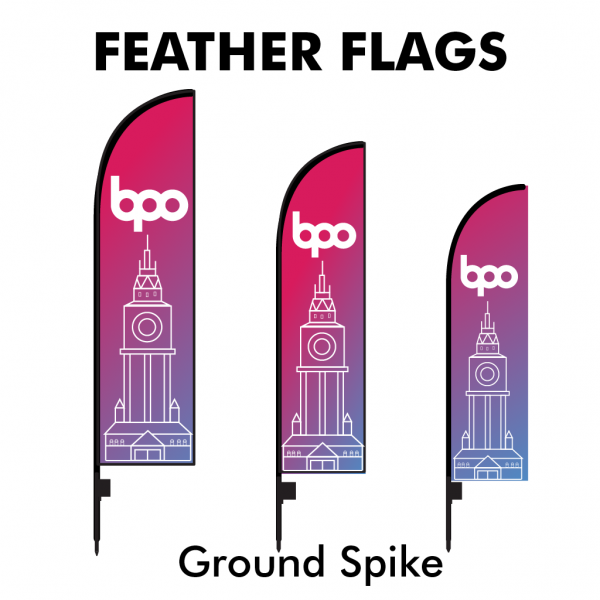 Belfast Print Online - Printed Feather Flags - Ground Spike