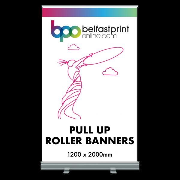 Pull Up Roller Banner 1200 x 2000mm - Printers Belfast - Belfast Print Online