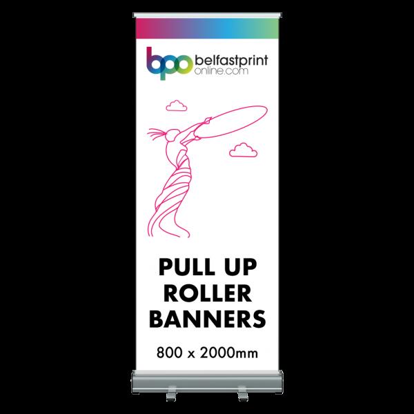 Pull Up Roller Banner 800 x 2000mm - Printers Belfast - Belfast Print Online