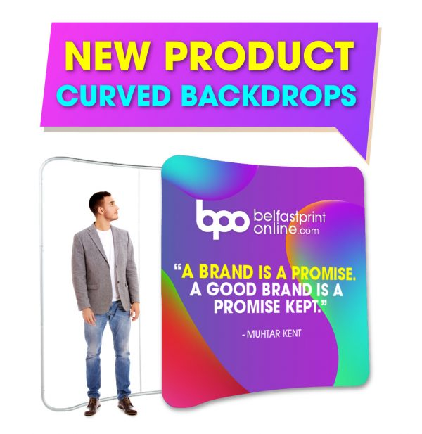 Fabric Backdrop Curved - Custom Printed Exhibition Stands - Belfast Print Online