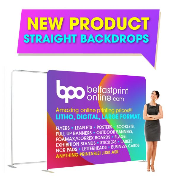 Fabric Backdrop Straight - Custom Printed Exhibition Stands - Belfast Print Online