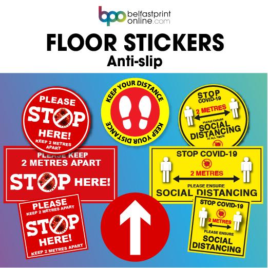 Coronavirus COVID 19 Safety Floor Stickers- Belfast Print Online