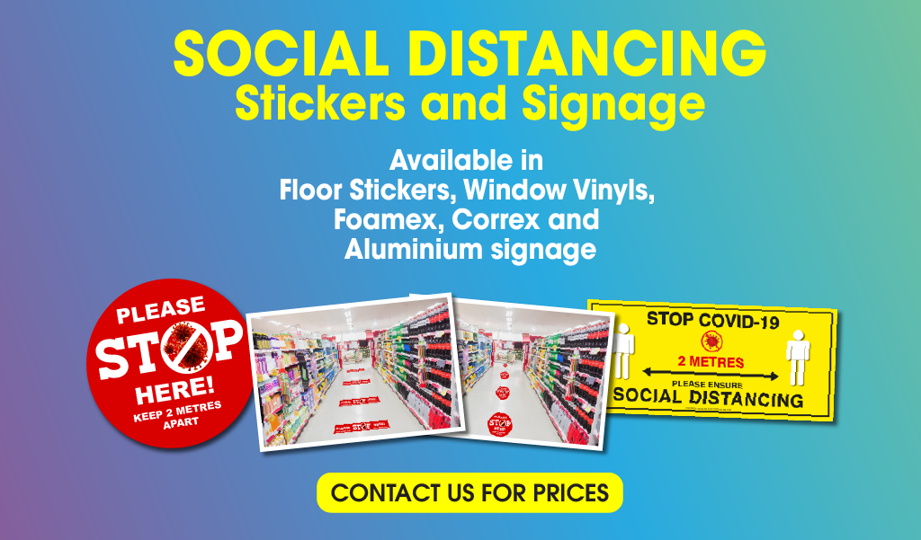 Buy COVID-19 Floor Stickers and Signage - Belfast Print Online