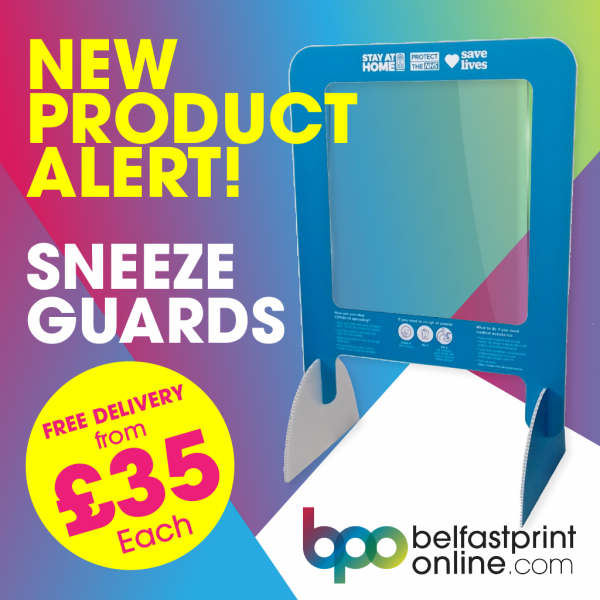 Coronavirus Checkout Counter Sneeze Guard - Belfast Print Online