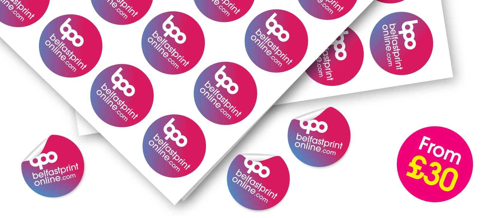 Stickers / Label Printing - Belfast Print Online