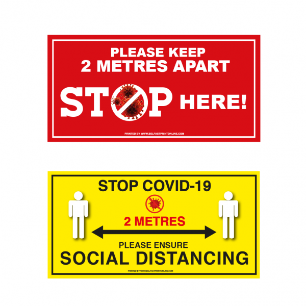 Coronavirus Anti Slip Floor Stickers - Rectangle - Belfast Print Online, NI
