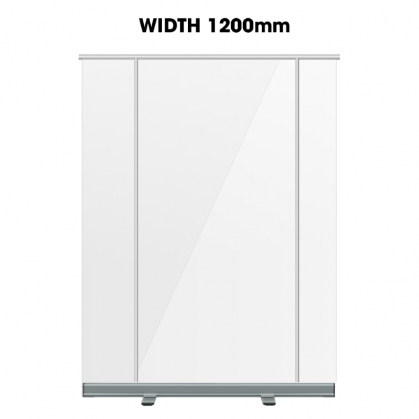 Clear Transparent Protective Screen Roller Banner - 1200mm - Belfast Print Online