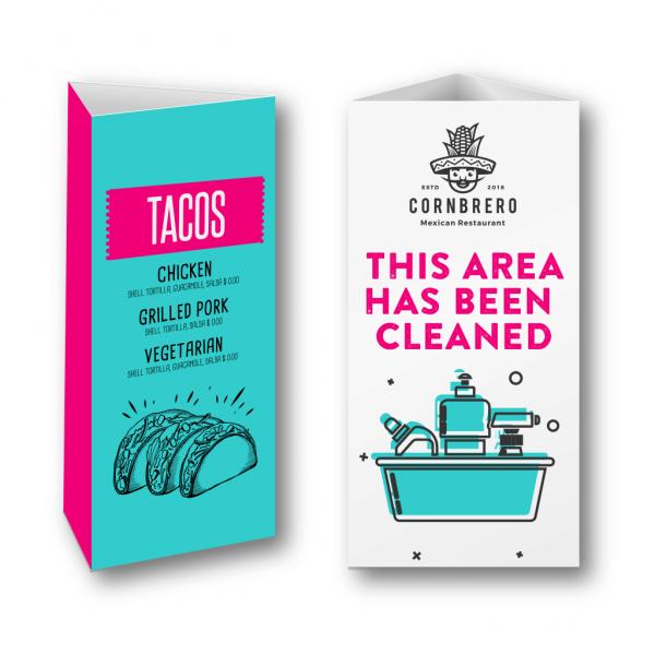 Printed Table Talkers - Belfast Print Online