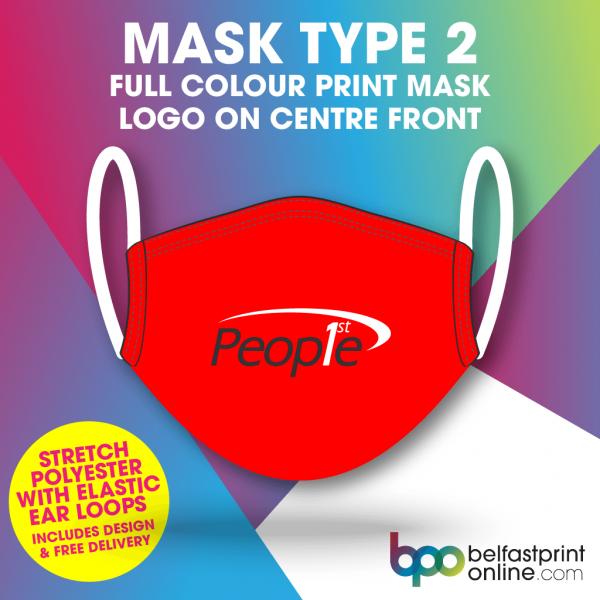 Printed Custom Face Masks - Belfast Print Online